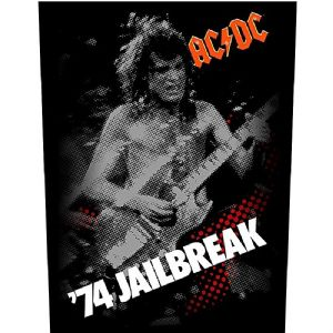 AC/DC '74 Jailbreak jumbo sized sew-on cloth backpatch  (ro)